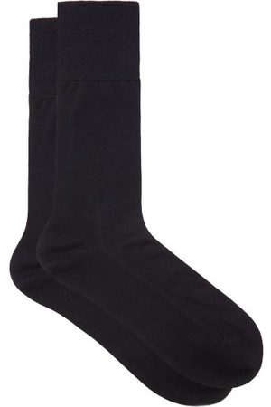 Falke No 4 Silk-blend Socks - Mens - Navy