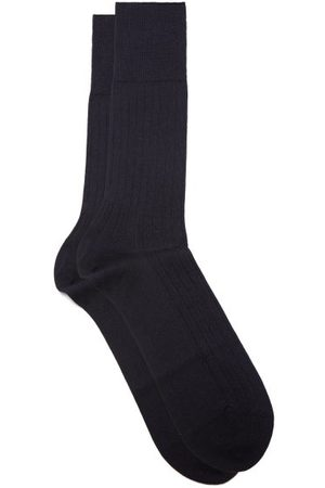 Falke No 2 Cashmere-blend Socks - Mens - Navy