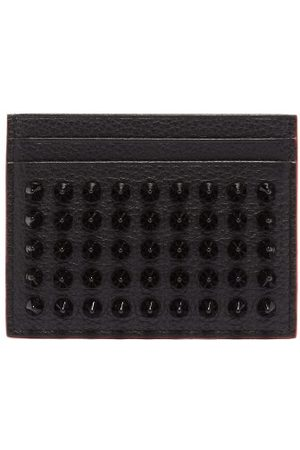 Christian Louboutin Kios Cone-stud Leather Cardholder - Womens - Black