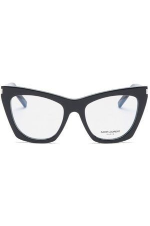 Saint Laurent Kate Cat-eye Acetate Glasses - Womens - Black