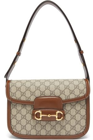 Gucci 1955 Horsebit Gg Supreme Shoulder Bag - Womens - Brown Multi