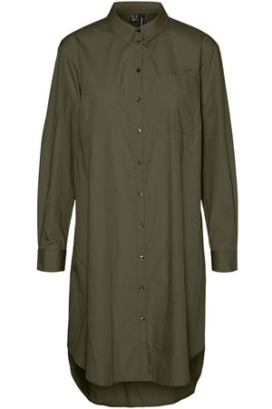 Vero Moda Lang Overhemd Dames Green