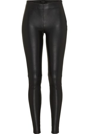 Selected Dames Leren broeken - Broek 'SFSYLVIA MW STRETCH LEATHER
