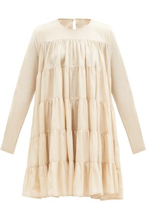 Merlette Soliman Tiered Cotton-voile Dress - Womens