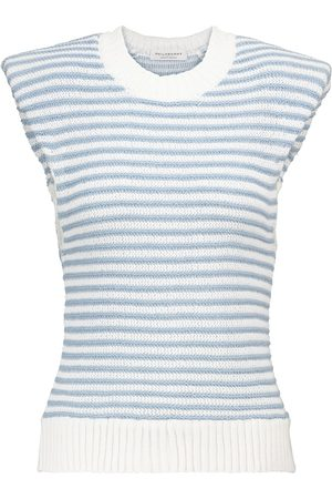 Serafini Striped cotton-blend top
