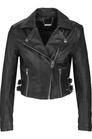 Tigha Dames Biker Leren Jasje Forever Young Biker zwart (black)