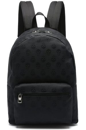 Alexander McQueen Metropolitan Biker Skull Coated-canvas Backpack - Mens - Black