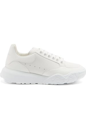 Alexander McQueen Court Raised-sole Leather Trainers - Mens - White
