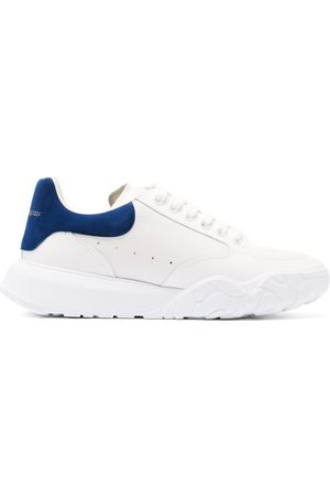 Alexander McQueen Court Raised-sole Leather Trainers - Mens - White Multi