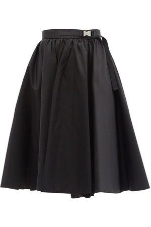 Prada High-rise Re-nylon Skirt - Womens - Black