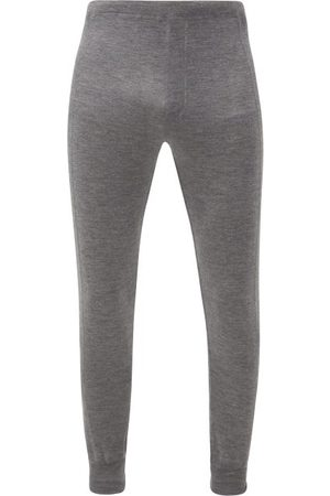 Prada Logo-jacquard Cashmere-blend Track Pants - Mens - Grey