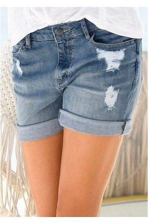 Buffalo Jeans-bermuda in used-look