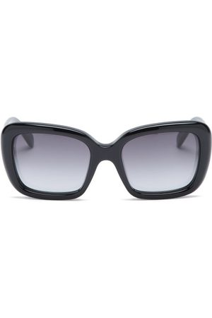 Céline Square Acetate Sunglasses - Womens - Black