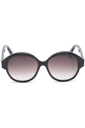 Céline Oversized Round Acetate Sunglasses - Womens - Black