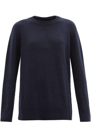 The Row Dames Sweaters - Sibel Wool-blend Sweater - Womens - Navy