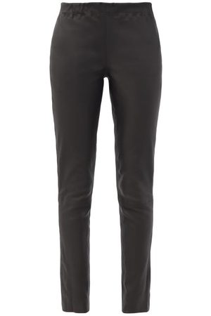 Raey Eco-tanned Leather Leggings - Womens - Black