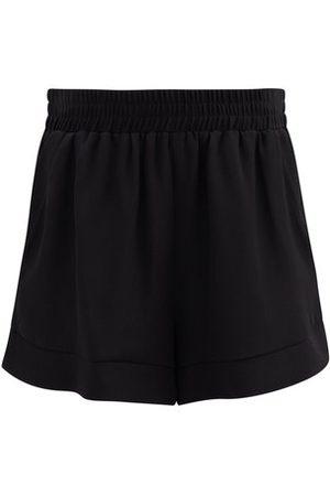 Raey Elasticated-waist Silk Shorts - Womens - Black