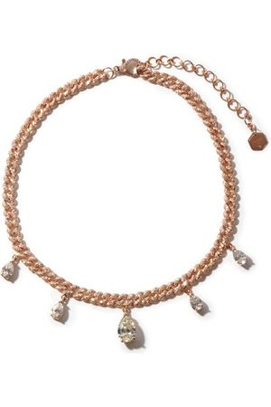 Shay Diamond & 18kt Rose-gold Curb-chain Choker - Womens - Rose Gold