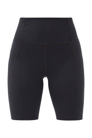 GIRLFRIEND COLLECTIVE High-rise Recycled-fibre Bike Shorts - Womens - Black