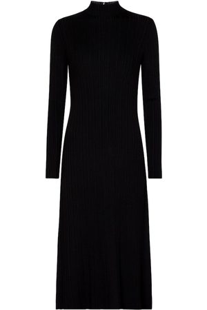 Vince Ribbed-knit midi dress