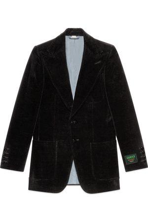Gucci Velvet jacket with label