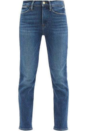 Frame Dames Straight - Le High High-rise Straight-leg Jeans - Womens - Denim