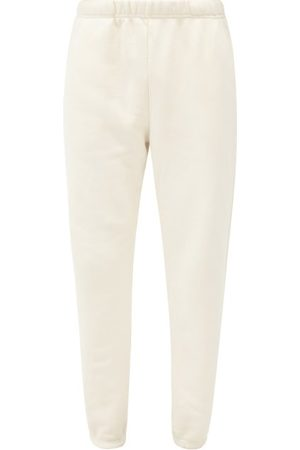 Les Tien Brushed-back Cotton-jersey Track Pants - Mens - White