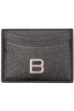 Balenciaga Hourglass Grained-leather Cardholder - Womens - Black