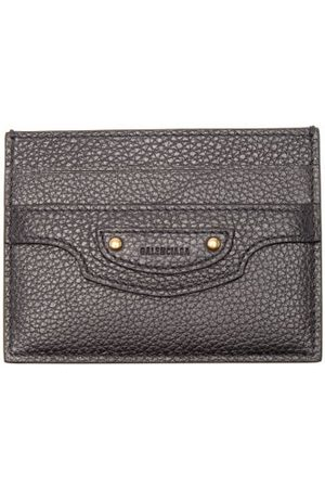 Balenciaga Neo Classic Grained-leather Cardholder - Womens - Black