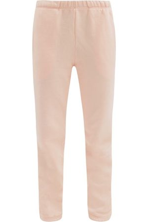 Les Tien Dames Joggingbroeken - Classic Brushed-back Cotton-jersey Track Pants - Womens - Light Pink