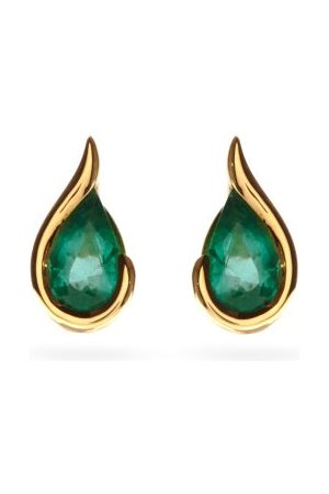 Fernando Jorge Ignite Emerald & 18kt Gold Stud Earrings - Womens - Green Gold