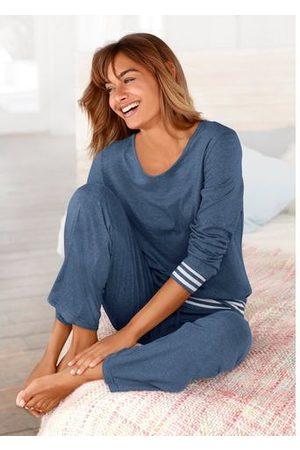 ARIZONA Dames Pyjama's - Pyjama met gestreepte boorden