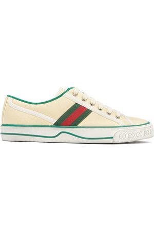 Gucci Dames Schoenen - Tennis 1977 Canvas Trainers - Womens - Cream Multi