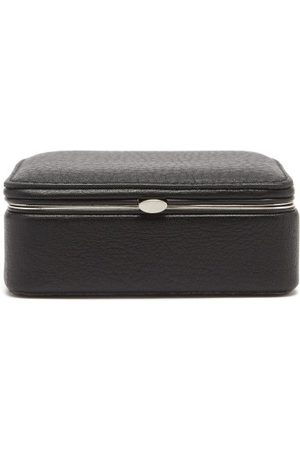 F. Hammann Leather Cufflinks Box - Mens - Black