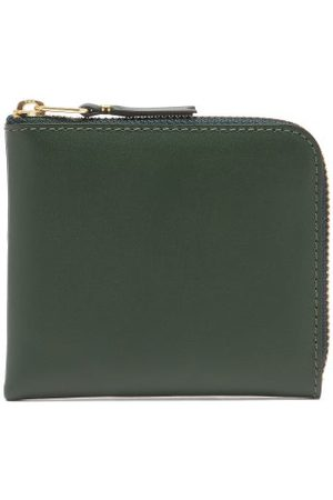 Comme des Garçons Zip-around Grained-leather Wallet - Womens - Green