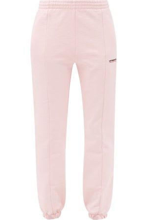 Vetements Haute Couture Logo-embroidered Jersey Track Pants - Womens - Light Pink