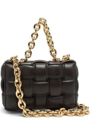 Bottega Veneta The Chain Cassette Intrecciato-leather Bag - Womens - Brown Gold