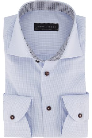 john miller Overhemd patroon blauw Tailored Fit