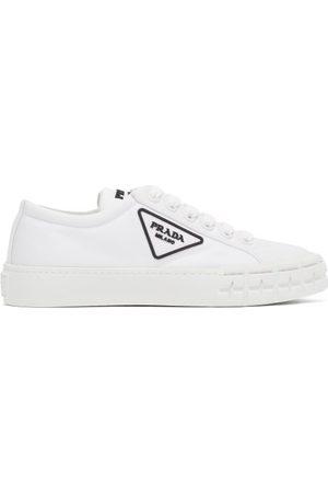 Prada Dames Sneakers - Wheel Re-nylon Trainers - Womens - White
