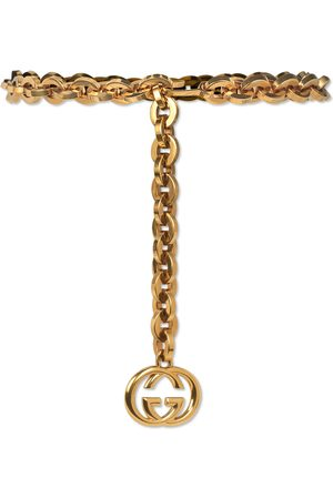 Gucci Dames Riemen - Chain belt with Interlocking G charm