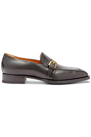 Gucci Zola Buckle-strap Leather Loafers - Mens - Black