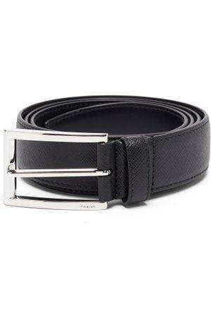 Prada Saffiano-leather Belt - Mens - Black