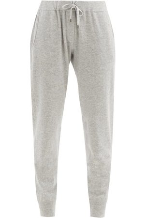 Brunello Cucinelli Ribbed-cuff Cashmere Track Pants - Womens - Light Grey