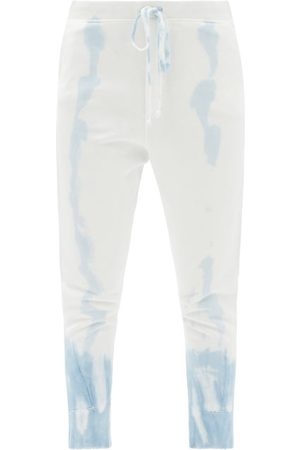 NILI LOTAN Nolan Tie-dye Cotton-jersey Track Pants - Womens - Light Blue