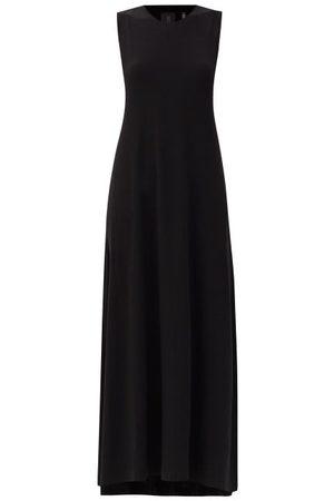 Norma Kamali Round-neck Jersey Maxi Swing Dress - Womens - Black