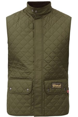 Belstaff Heren Gilets - Diamond-quilted Recycled-shell Gilet - Mens - Khaki