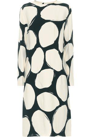 Marni Dames Geprinte jurken - Printed crêpe midi dress