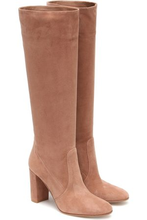Gianvito Rossi Glen 85 suede knee-high boots