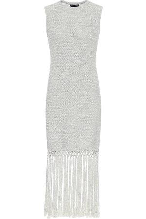 Alanui Dames Korte jurken - Exclusive to Mytheresa – Fringed cotton-blend minidress