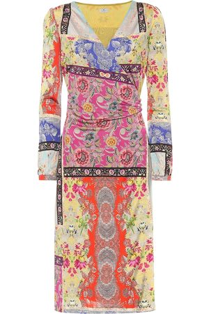 Etro Floral jersey midi dress